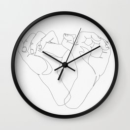 minimalist hand drawing Wall Clock