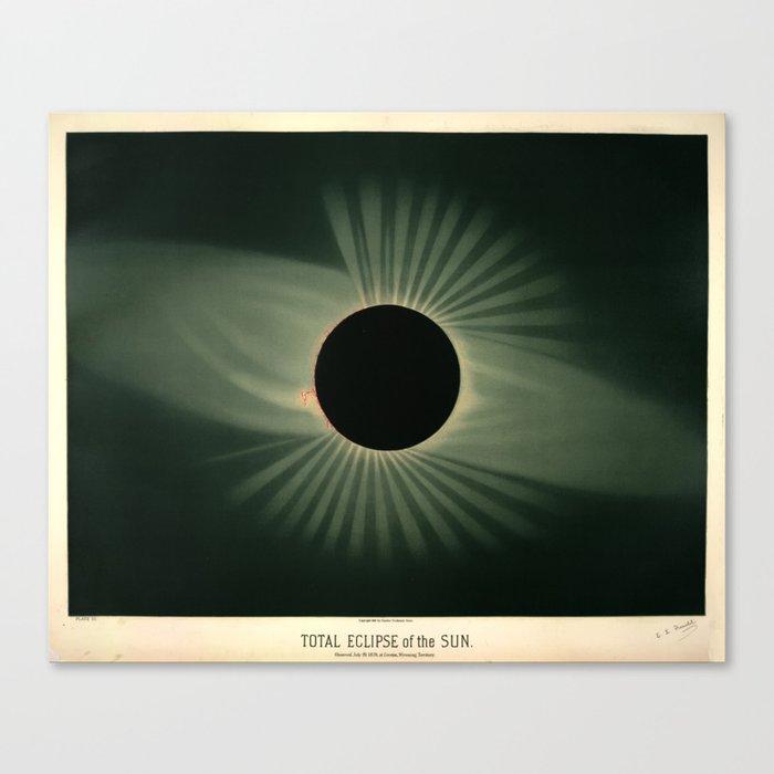 Total solar eclipse by Étienne Léopold Trouvelot (1878) Leinwanddruck