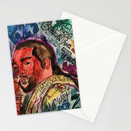 pnd,soul,rnb,hiphop,singer,rapper,ovo,poster,portrait,colourful,lyrics,music,fan art, Stationery Cards