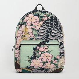 Katsushika Hokusai - Cherry blossoms and Eagle - Digital Remastered Edition Backpack