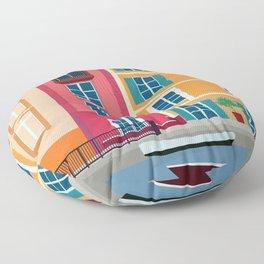 Colour Houses Floor Pillow