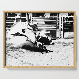 Bull Riding Champ Serving Tray