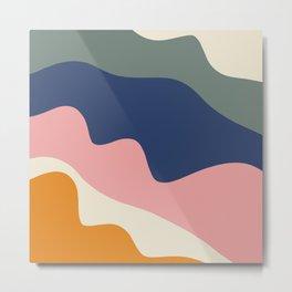 millennial color block Metal Print