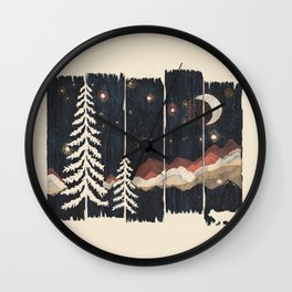 A Starry Night in the Mountains... Wall Clock
