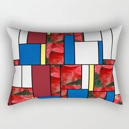 Mottled Red Poinsettia 1 Ephemeral Art Rectangles 4 Rectangular Pillow