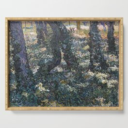 Vincent Van Gogh Undergrowth Serving Tray