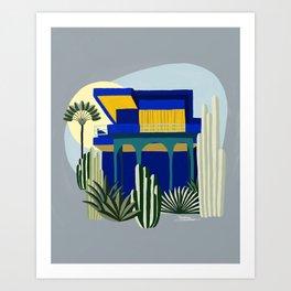Jardim Majorelle Art Print