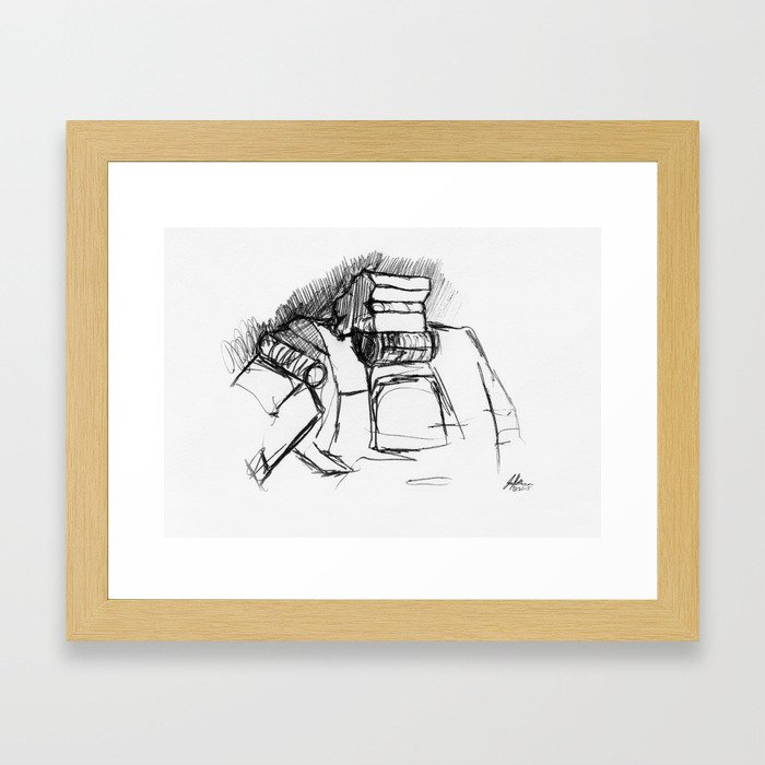 Warbot Sketch #009 Framed Art Print