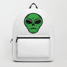 Halloween Funny Green Alien Scary Face Spooky Cartoon Backpack