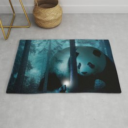 Giant Panda in a Forest Rug