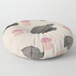 Black mushroom Floor Pillow
