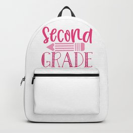Second Grade - Funny School humor - Cute typography - Lovely kid quotes illustration Backpack
