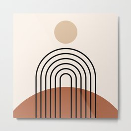 Abstraction_SUN_LINE_BOHEMIAN_LANDSCAPE_POP_ART_1129B Metal Print