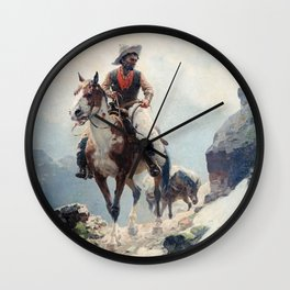 "William Leigh Western Art ""The Bear Tracker"" Wall Clock"
