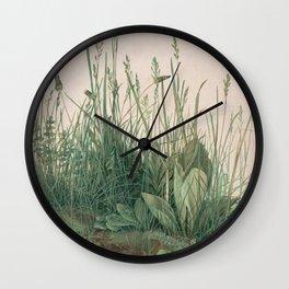 Albrecht Durer - The Large Piece of Turf Wall Clock