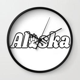Alaska Bear Paw Print Nature Kodiak Katmai Wall Clock