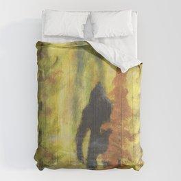 Sasquatch in Fall - aka Blob squatch Comforters