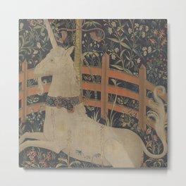 The Unicorn  In Captivity Metal Print