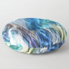 Abstract Colour 1502 Floor Pillow
