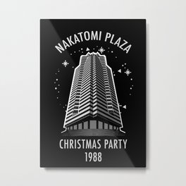 Nakatomi Plaza Christmas Party 1988 Metal Print