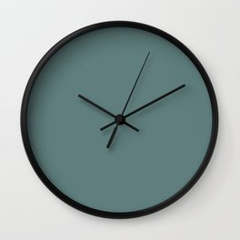 Simply Solid - Greyish Turquoise Wall Clock
