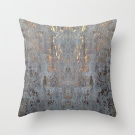 GOLDEN CONCRETE SLAB Throw Pillow