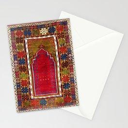 Karadag Antique Turkish Niche Carpet Print Stationery Cards