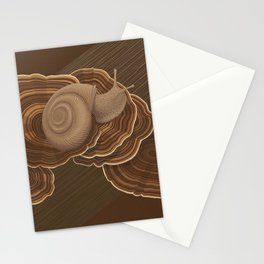 Forestsnail on Fungus Stationery Cards