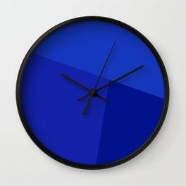 dégradé trapèze bleu ciel Wall Clock