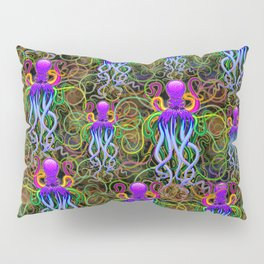 Octopus Psychedelic Luminescence Pillow Sham