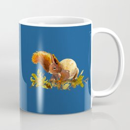 Squirrel painting Watercolor - Cute fluffy critter - woodland artwork - Animal lovers interior Coffee Mug