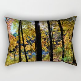 Walden Pond Autumn Forest  in Concord Massachusetts Rectangular Pillow