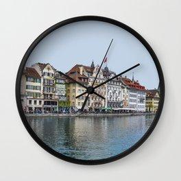 Lucerne, Switzerland Travel Artwork Wall Clock