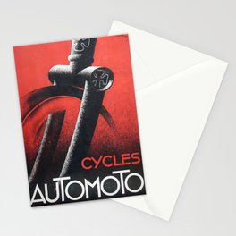 1932 Automoto Bicycles Motorcycles Vintage Advertising Poster Stationery Cards