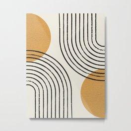 Sun Arch Double - Gold Metal Print