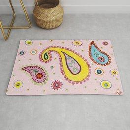 Pink Paisley  - Motifs Cachemire Rose Rug