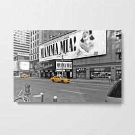 NYC Yellow Cabs Mamma Mia - USA Metal Print