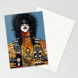 Portrait of Nikki Sixx Stationery Cards
