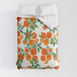 Fresh Orange Juice Pattern Comforters