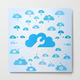 Industry a cloud Metal Print