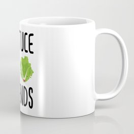 Lettuce Be Friends #lettuce #illustration #veggie #vegan #friends #green #veggiegift Coffee Mug