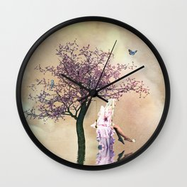 Blossom angel Wall Clock