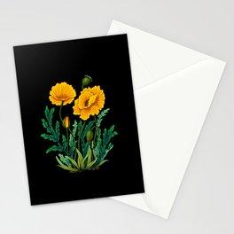 Minhwa: Poppy: Yellow Deep B Type  Stationery Cards