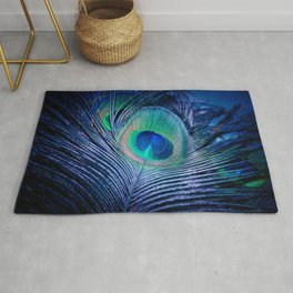 Peacock Feather Blush Rug