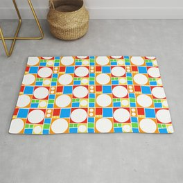 Colourful Abstract Shapes Pattern Rug