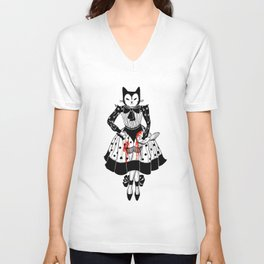Cats are cruel Unisex V-Neck