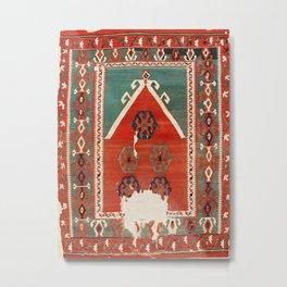 Kula West Anatolian Niche Kilim Print Metal Print