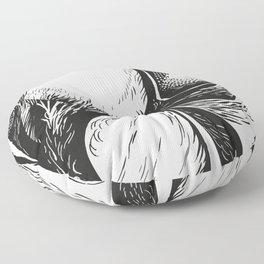 Mr Monday (black) Floor Pillow
