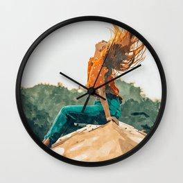 Live Free, Freedowm Woman Empower Painting, Fashion Female Human Rights Wall Clock