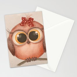 Woodland Nursery - Baby Owl Stationery Cards